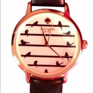 Kate Spade Navy Birds On Wire Metro Watch